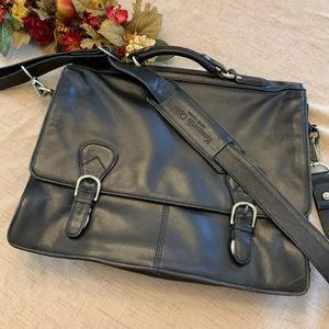 Vintage Kenneth Cole Black Leather Briefcase